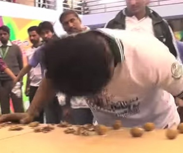 Guy Cracks 150 Walnuts with His Head, Sets New World Record for Headaches