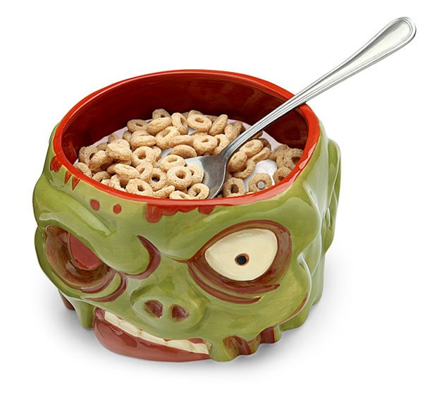 Zombie Head Cereal Bowl Makes Breakfast Apocalyptically