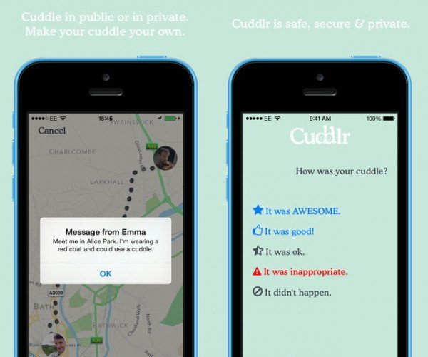 Cuddlr App Finds You Someone to Cuddle With
