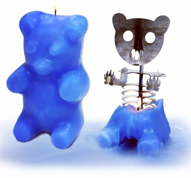 Gummi Bear Skeleton Candles