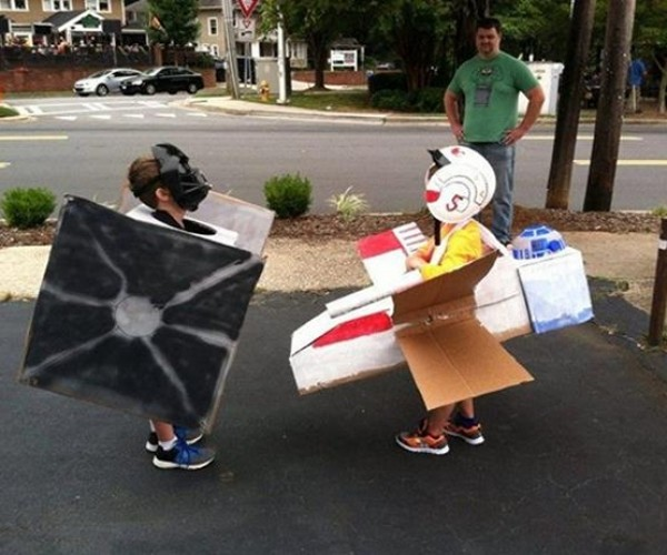 Kids' Star Wars TIE Fighter and X-Wing Cosplay