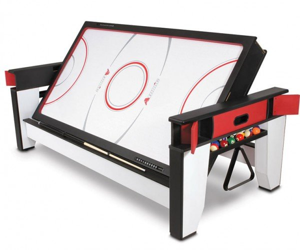 Ultimate Game Room Table Flips from Air Hockey to Billiards