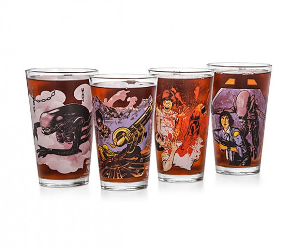 Alien Pint Glasses Look Like Old School Collectables