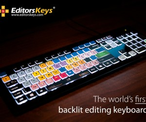 Backlit Keyboard with Editing Shortcuts: Lights, Edit, Action