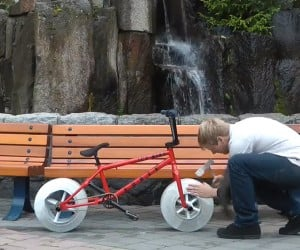 Bicycle with Ice Wheels: Deinventing the Wheel