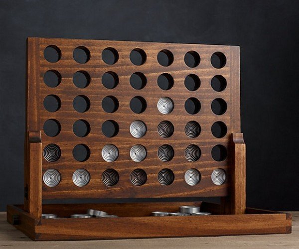 Wood & Aluminum Connect Four: Pretty Swanky, Sis.