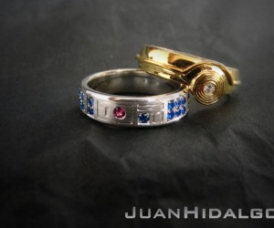 R2-D2 and C-3PO Wedding Bands: Do You Take This Droid?
