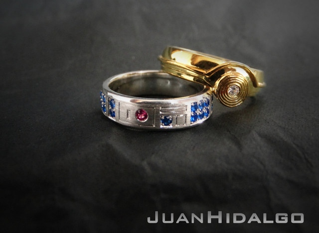 R2 D2 And C 3po Wedding Bands Do You Take This Droid