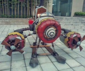 Guy Builds World of Warcraft Goblin Copter from Wood