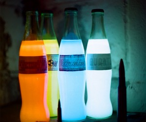 Nuka-Cola Soda Bottles Glow in the Dark