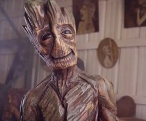 Chainsaw Artist Sculpts an Actual Wood Groot