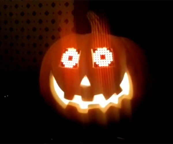 Jack O Lantern With Arduino Ed Eyes Open Scares