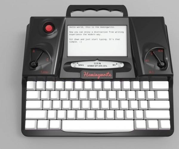 Electronic Typewriter with E Ink Screen: Hemingwrite