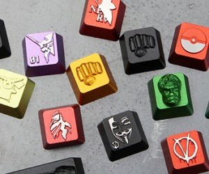 HolyOOPS Geeky Metal Keycaps: The Bees' Keys