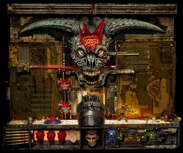 Icons of Doom Assemblage Sculpture: BFS