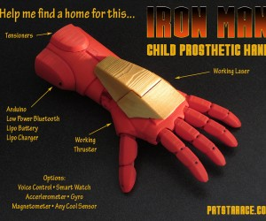 3D Printed Iron Man Prosthetic Hand Can Light up a Kid's Life