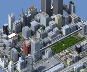 Minecraft City Has 4.5 Million Blocks: SimSimCity