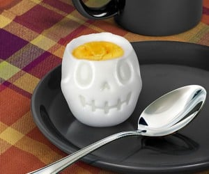 Egg-o-matic Egg Mold Makes Hard-Boiled Skulls