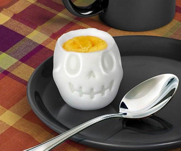 Egg-o-matic Egg Mold Makes Hard-Boiled Skulls