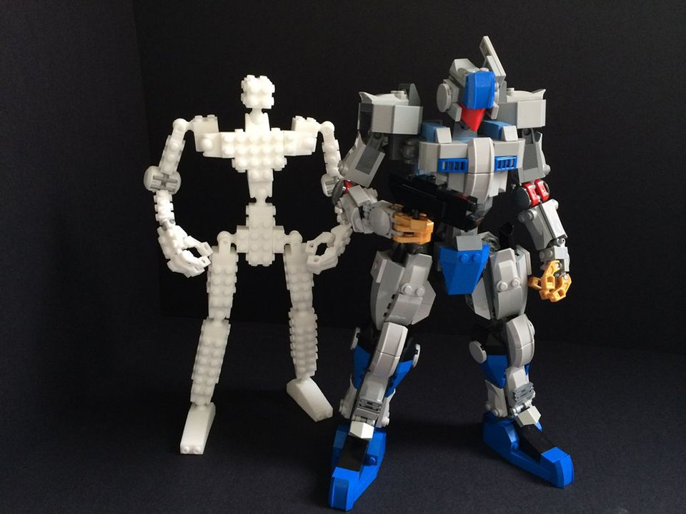 3d Printed Skeleton Lets You Make Lego Robots Lego Build