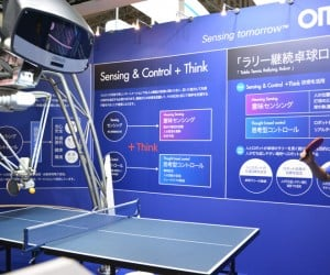 Ping Pong Playing Robot Has Two Eyes, Three Arms and Lots of Mercy
