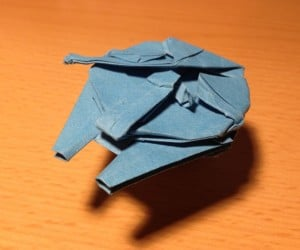 Origami Millennium Falcon: Folding Hyperspace