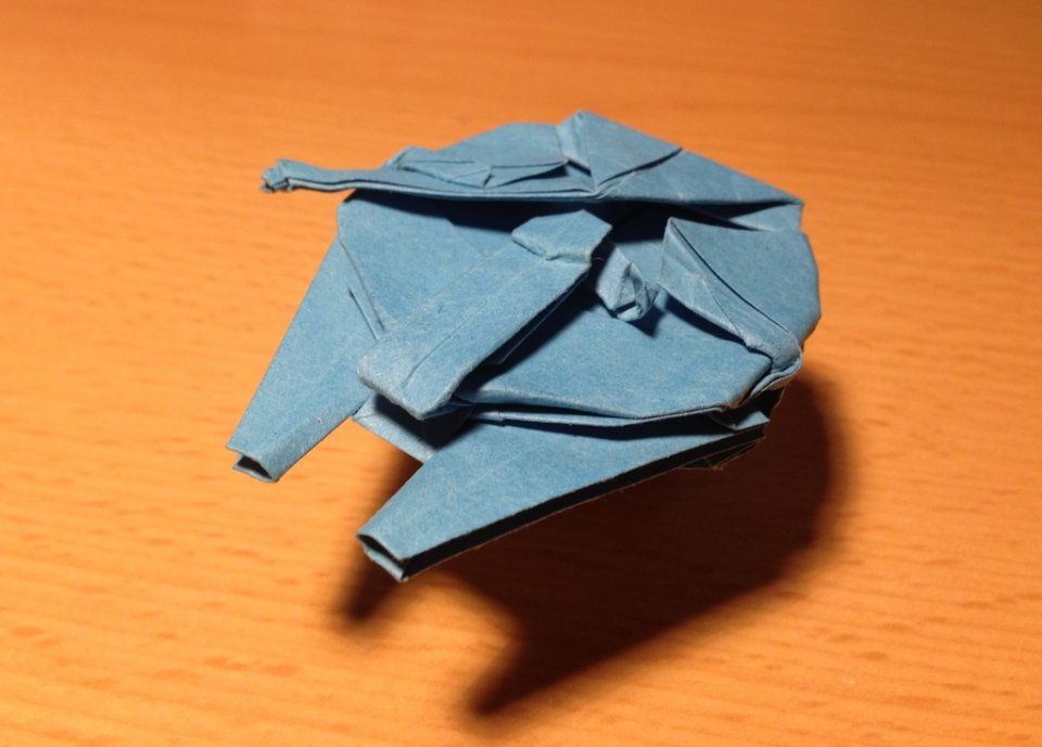 This Little Adorable Millennium Falcon Was Made By Adamite85 An Origami Artist In The Czech Republic