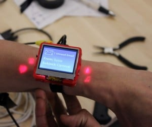 Smartwatch Projects Buttons on Your Arm