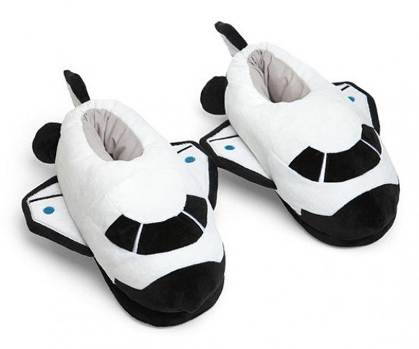 Space Odyssey Plush Shuttle Slippers: Ground Control to Major Tootsies