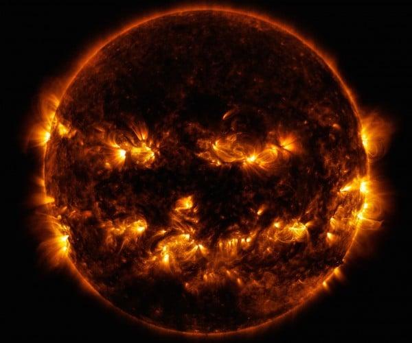 The Sun is a Giant Jack-o-Lantern