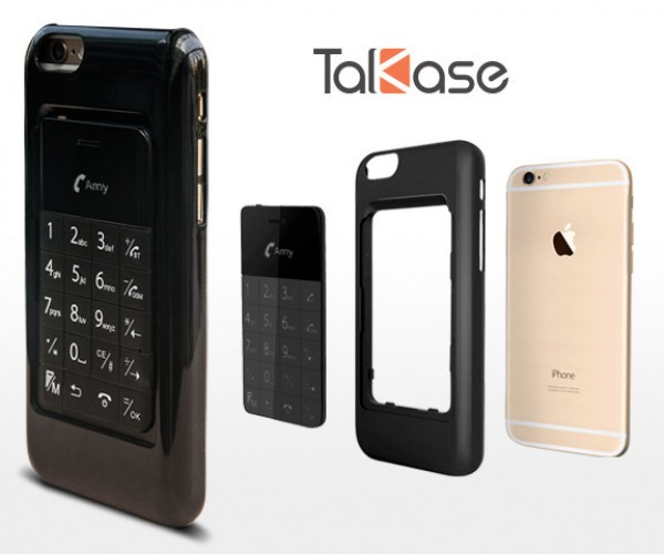Talkase Smartphone Case Has Tiny Cellphone Built-in: Dual Wielding