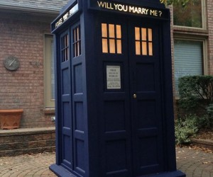 Guy Proposes with a Custom TARDIS