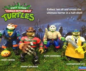 TMNT Mashed up with Horror Movie Characters: Sewer Slashin' Turtles