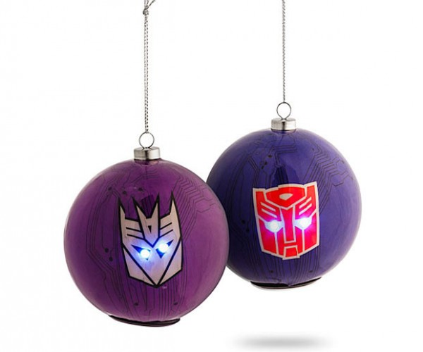 Transformers Ornaments Have Light-up Eyes
