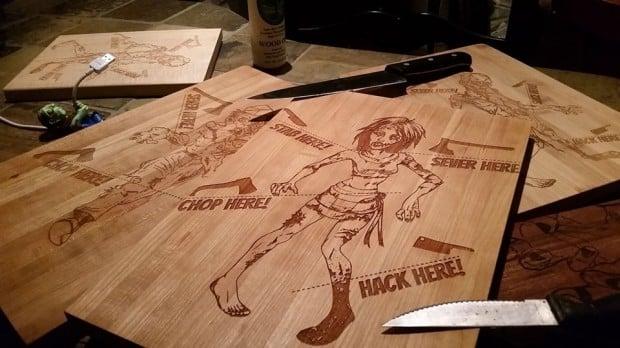 zombie cutting board