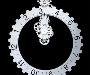 Big Gears Wall Clock: Time Grinds by