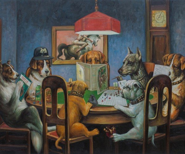 Dogs Playing D&D: Chaotic Cute