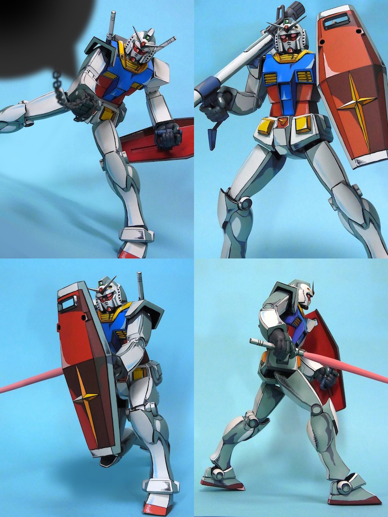 Gundam Gunpla Retro Anime Painted Action Figure: Oldtype
