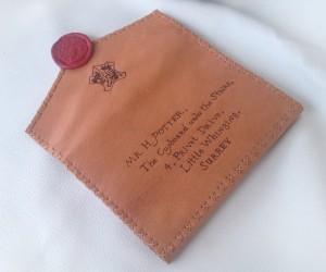 Harry Potter Envelope Wallet: Hogwarts Acceptance Leather