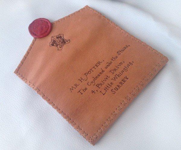 Harry Potter Envelope Wallet: Hogwarts Acceptance Leather
