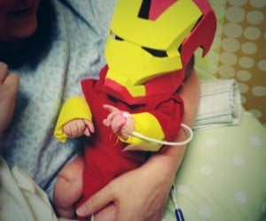 Dad Creates Iron Man Costume for Hospitalized Newborn Son