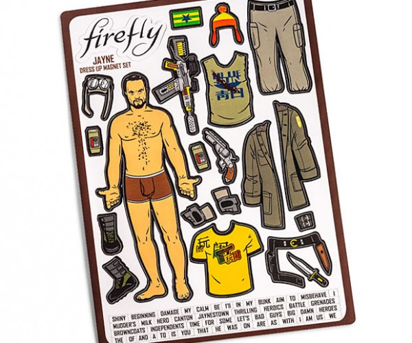 Firefly Jayne Dress-up Magnets are Like Paper Dolls for Geeks