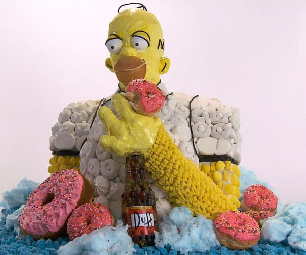 Homer Simpson Made from Junk Food
