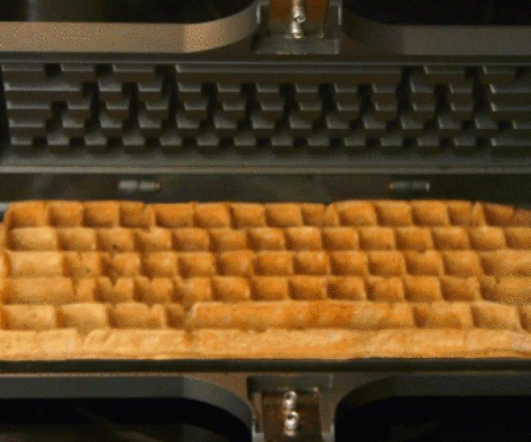 Keyboard Waffle Iron Spells Delicious
