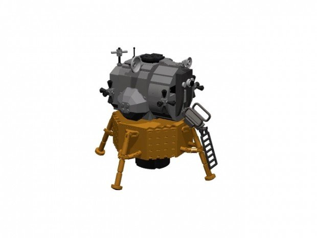 lego apollo 11 spacecraft lunar module set by luispg 4 620x465