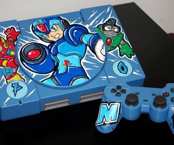 Custom Mega Man Playstation: Sony Man