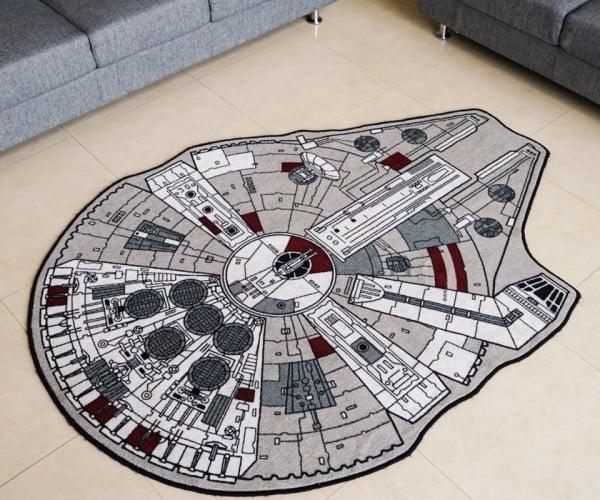The Millennium Falcon Rug: A Space Fleet Beneath Your Feet