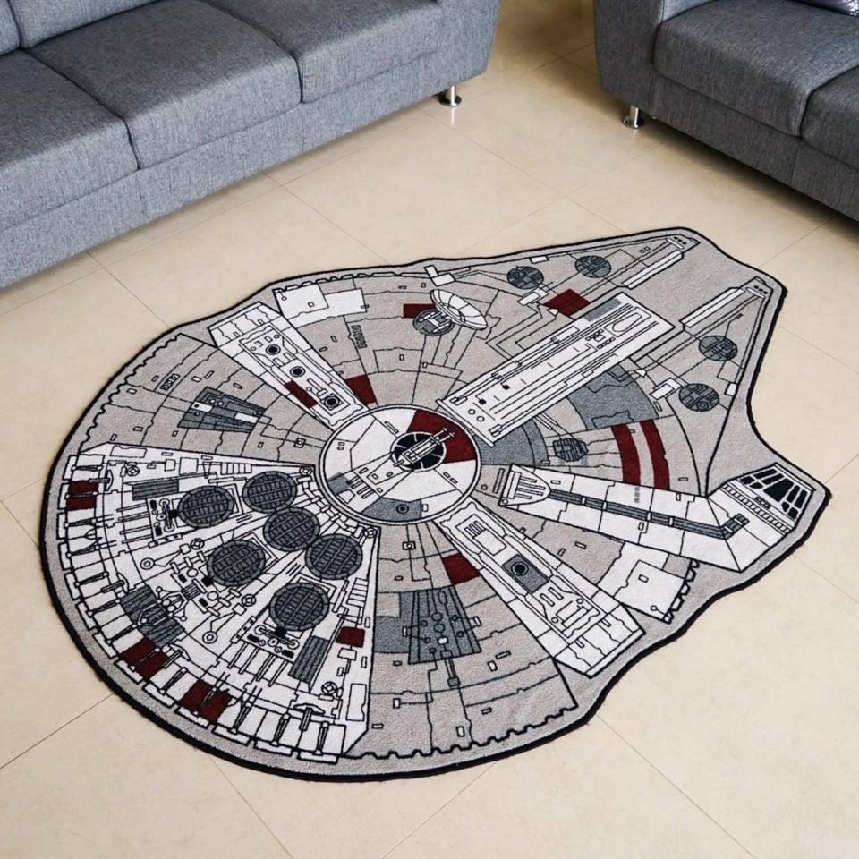 The Millennium Falcon Rug A Space Fleet Beneath Your Feet
