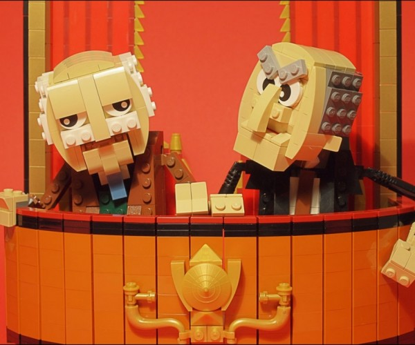 LEGO Statler and Waldorf: Grumpy Old Bricks
