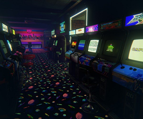 Roam Around & Play in a Virtual Reality 80s Arcade: Coins in the Shell